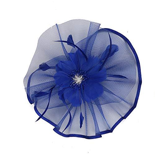 UJUNAOR 1920s Feder Stirnband 20er Jahre Stil Art Deco Flapper Haarband Damen Great Gatsby Accessoires(Blau,One size)