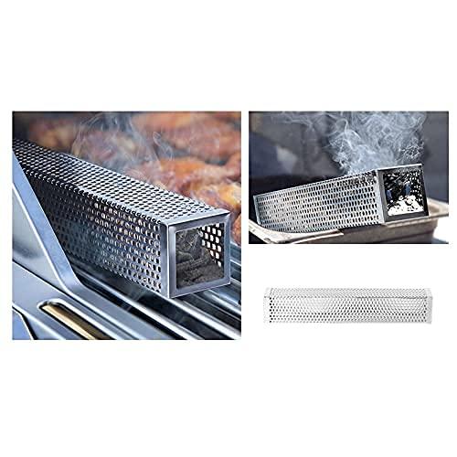 51uwUeJZ3OS. SL500  - ZCZZ Edelstahl Kalträucherbox BBQ Grillzubehör Holzchips Smoker Mesh Generator Box Outdoor (Größe : Quadratisch)