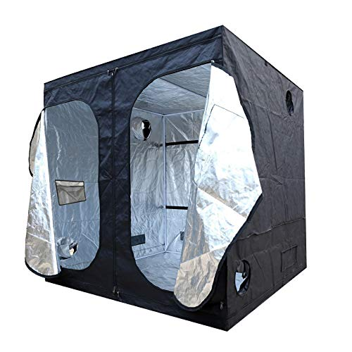 Indoor Grow Light Box Tent Aluminum lined Bud-growing Dark Room for Hydroponic Fans Reflective Mylar Hydroponic Grow Tent with and Waterproof Floor Tray for Indoor Plant Growing