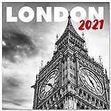 Erik Wandkalender London Schwarz-Weiß - Kalender 2021 für 16 Monate