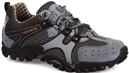 Dayiss® herr bergsko vandrings- och vandringsskor ankelskor sportskor snöskor luftiga sommar/höstskor chukka boots, - GRÅ - 43-Fußlänge 26.5cm
