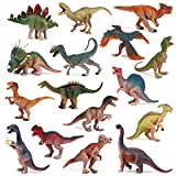 """EOIVSH Pack of 16 Realistic Looking 3.5"""" - 4.9"""" Dinosaur Toys, Plastic Assorted Jurassic World Large Dinosaur Figures, Party Favors Educational Dinosaur Figurines for Kids Age 3+"""