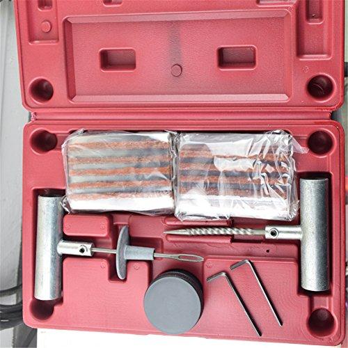 sweetlife Kit Reparation Pneu, Kit Crevaison Tubeless pour Voiture Auto Moto VTT Pneus avec Colle Mèches de Caoutchouc Boîte de Rangement Professionnel Outil (35pcs)