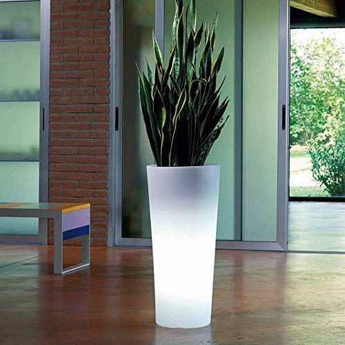 Macetero, Maceta con luz led 16 Colores, 60cm Mando a Distan