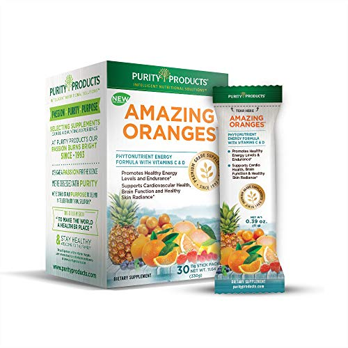 Amazing Oranges - 30 Grab and Go Sticks - Power Packed with Vitamin C, Vitamin D, Calcium, Magnesium, Potassium, Fiber and Electrolytes from Purity Products