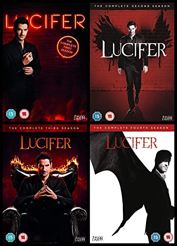 Lucifer 1-4 Complete Collection DVD: Lucifer Season 1,2,3,4 DVD