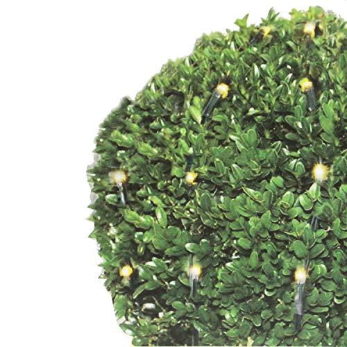 Lichterkette für Buchsbaum - 100 LED`s, Ø90cm, warmweißes Licht für Innen und Außen - Weihnachtsdekoration