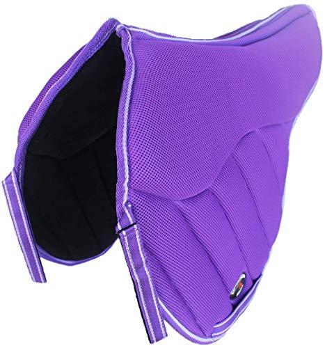 CHALLENGER Horse English Saddle Pad Treeless Anti-Slip Contoured Memory Foam Purple 12223PR