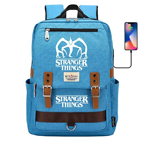 Boys Outdoor Camping Backpack Travel Backpack Suitable for 15 inch Laptop Tablet USB Charging Port Large Blue