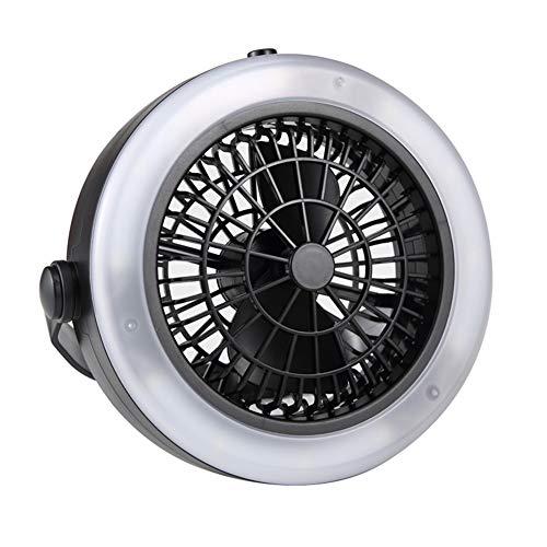 APXZC Draagbare 3-in-1 tent-lichtventilator, mini-campinglantaarnventilatoren, heldere ledlampen, 1,5 W, oplaadbare USB-aansluiting, geluidsarm, hangend, voor campinguitstapjes in de wandeltuin