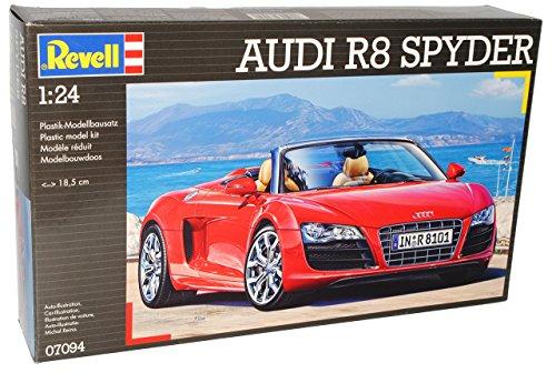 Revell A-U-D-I R8 R 8 Cabrio Rot Offen Spyder 1. Generation 07094 7094 Bausatz Kit 1/24 Modellauto Modell Auto