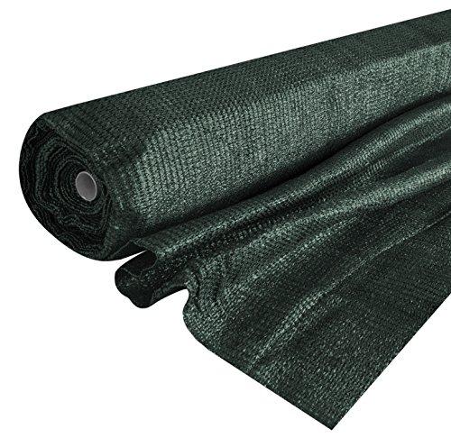 Windhager Schattiergewebe Schattiernetz Sonnenschutz Sichtschutz, idealer Schattenspender z.B. für Gewächshäuser oder KFZ-Stellplätze, dunkelgrün, 2 x 10 m, 06136