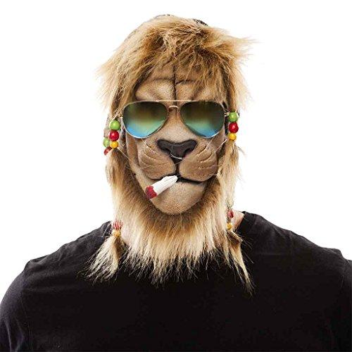 Löwe Raggae Maske Herrenkostüm