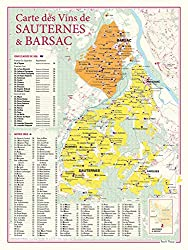 Poster map pf Sauternes and Barsac