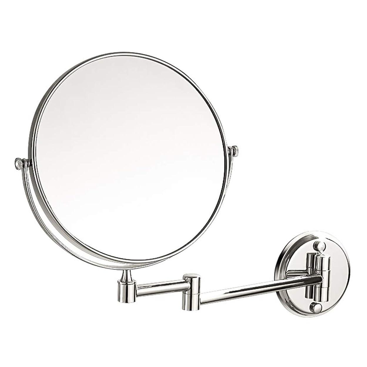 バルコニースコットランド人芸術HUYYA バスルームメイクアップミラー 壁付 丸め、シェービングミラー 3 倍拡大鏡 バニティミラー 両面 化粧鏡 寝室や浴室に適しています,Silver_6inch