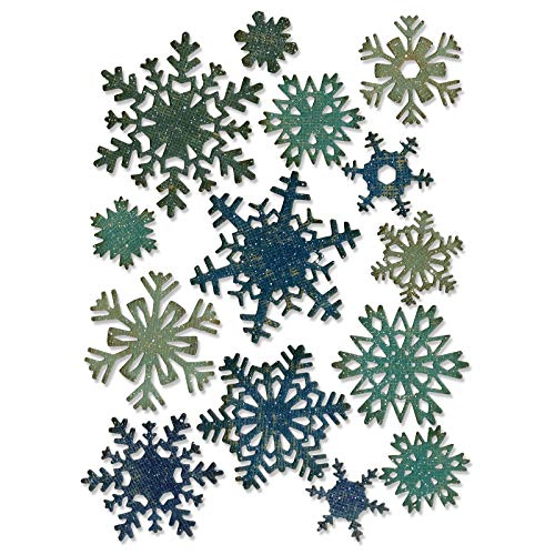 Sizzix Thinlits Die Set 661599, Paper Snowflakes, Mini by Tim Holtz, 14 Pack, One Size, Multi Color