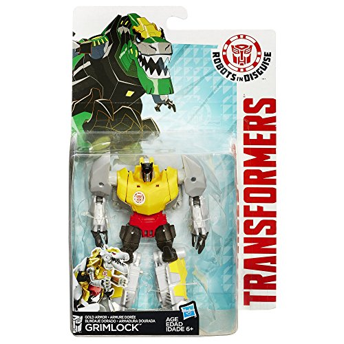 Transformers Robots In Disguise Warrior Class Gold Armor Grimlock Figur