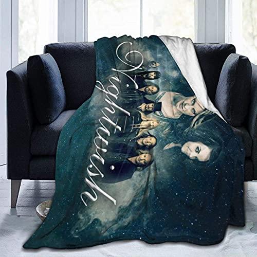 Manta de franela Night-wish Manta ligera y acogedora de felpa para adultos y niños, sofá, camping, viajes, 60 x 50 pulgadas