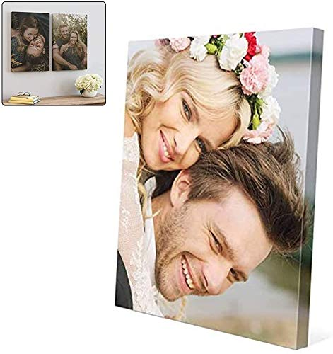 NEWPITE Stampa su Tela Personalizzata la Tua Foto, Personalizza Le tue Foto su Stampe su Tela, Foto su Tela Personalizzata Stampe su Tela Personalizzate (Vertically,40 * 40cm)