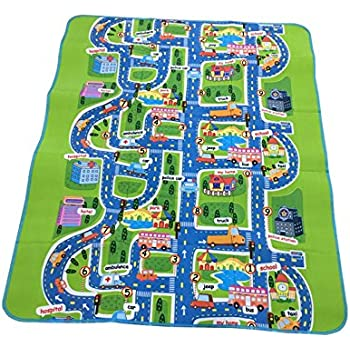 Children Kids Baby Crawling Blanket Carpet Rug City Life Game Toy Play Foam Mat