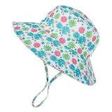 Zando Baby Girls Boys Sun Hat Infant Toddler Wide Brim UPF 50+ Sun Protection Kids Outdoor Pool Beach Cap Cute Daisy 19.7'-21.3' / 4-8 Years