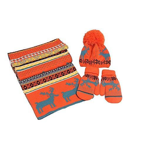 lingzhuo-shop sjaal handschoenen muts dames set winter combi set kerstkostuum cadeauset 3 delen / set warm dikke wolvoering hert