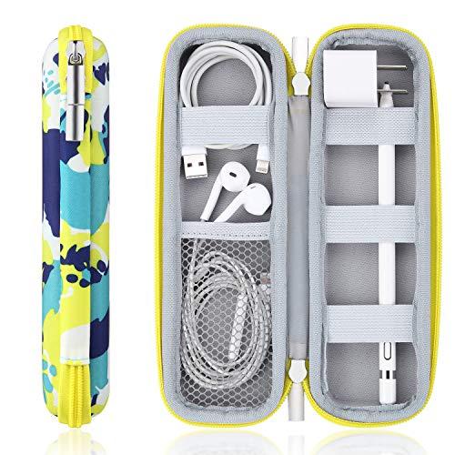 Hard Pencil Holder Case Fit for Apple Pencil/Apple Pencil 2, Samsung Pen, Surface Pen,Stylus, Charging Line, Earphone, Apple Pen Accessories,Fountain Pen,Abstract Blue