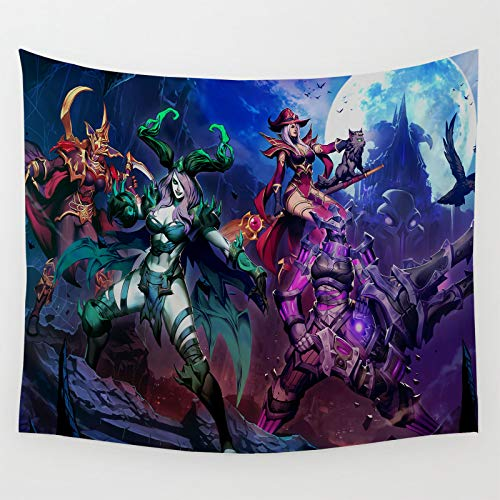 Tapiz decoración de dormitorio Blizzard juego de entretenimiento Zarya Sally Whitemane para dormitorio sala de estar 210 x 150 cm