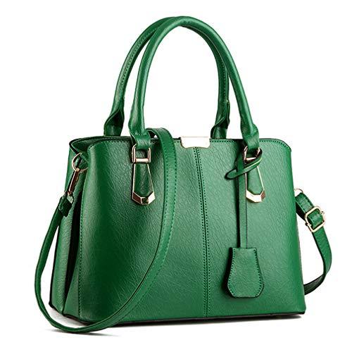 Pahajim Borsa a Mano Donna Borse Moda per Borse in Pelle PU Borsa a Mano Donna con Grande Capacità Maneggiare borse Borsa del messaggero (verde)