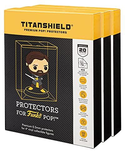 TitanShield Funda protectora de 0,5 mm, compatible con Funko – Figuras de vinilo Pop! de 4...