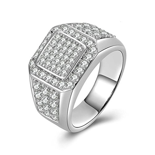 Adokiss Mujer no-metal-stamp (Fashion only) plata redondo blanco Cubic Zirconia