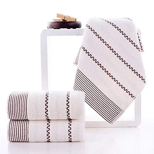 HIROCK Toalla de Uso Diario, 100% algodón de un Solo Hilo, Toalla súper Suave, Toalla de baño Altamente Absorbente (Blanco)