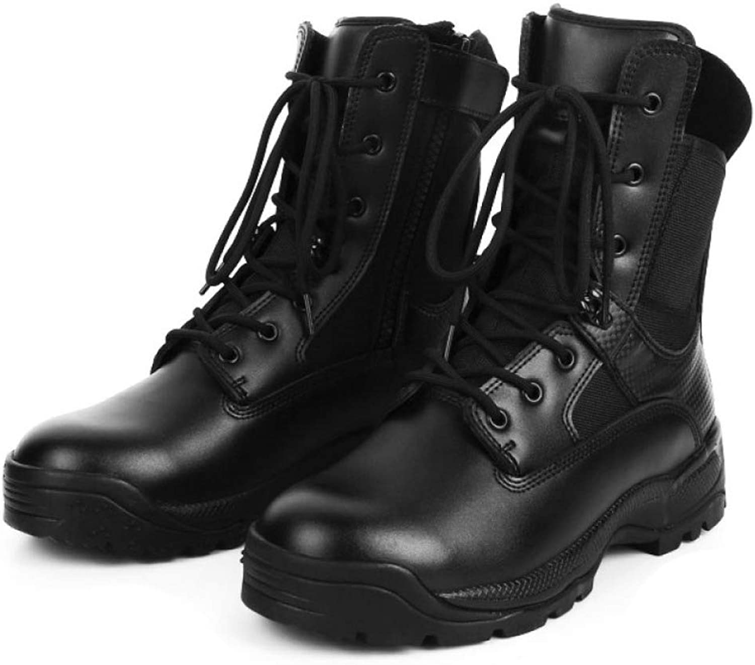 DSFGHE Boots Men's Military Tactical Work Boots Breathable Waterproof Outdoor Hiking Boots