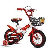 Bicicleta para niños Bicicleta para Estudiantes para niños y niñas 14/12/16/18 Pulgadas Bicicleta Ciclismo Bicicleta Ligera Regalo para niños, Rueda roja, 16'