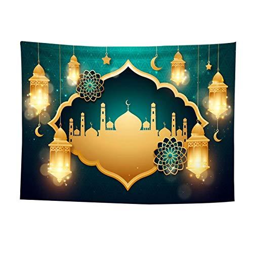 Ablerfly Ramadán Eid Mubarak Tapicería Tapiz Étnico Fondo Tela Pared Tapiz Musulmán Islámico Árabe Fiesta Fiesta Decoración