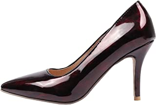 7a8cdf603 Vitalo Womens Patent Leather High Heel Pointed Toe Pumps Stilettos Slip On  Court Shoes