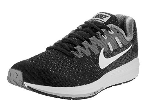 Nike Nike Herren Air Zoom Structure 20 Laufschuhe, Grau (Schwarz/Weiß-Cool Grau), 45 EU