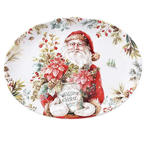 Certified International Christmas Story Oval Platter 16',