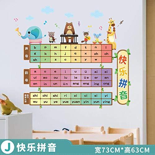 Righello decorativo altezza fumetto altezza fumetto adesivo da parete autoadesivo rimovibile-J & amp; middot; Happy Pinyin_Big