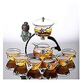 Conjunto de 9/10 Piezas de Conjunto de té de Cristal Perezoso semiautomático de la Oficina de la Oficina Kung Fu Teacup Set Tea Brewing Tea Set ( Size : D )