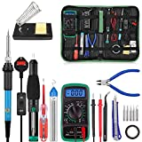 Soldering Iron Kit, ICONNTECHS 18-in-1 Adjustable Temperature Welding Soldering Iron with ON/Off Switch