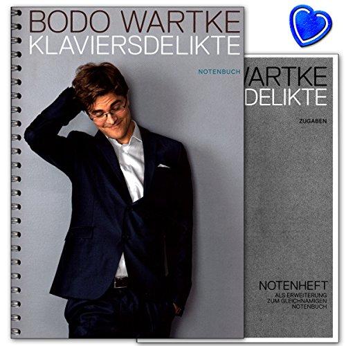 Klaviersdelikte - Songbook von Bodo Wartke für Klavier, Gesang, Gitarre mit bunter herzförmiger Notenklammer