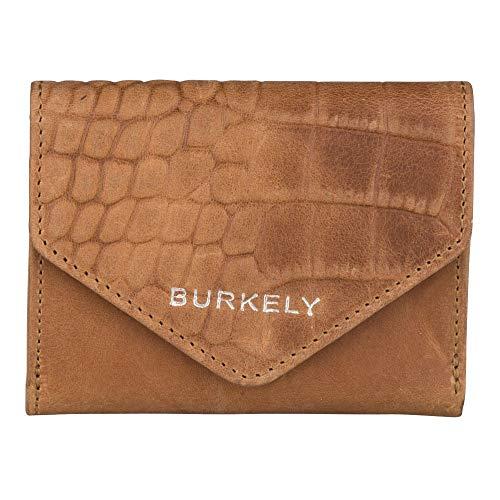 Burkely Croco Cody Wallet S Portemonnee RFID Cognac
