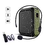 SHIDU Bluetooth Amplificador de voz 18W con auriculares con micrófono con cable...