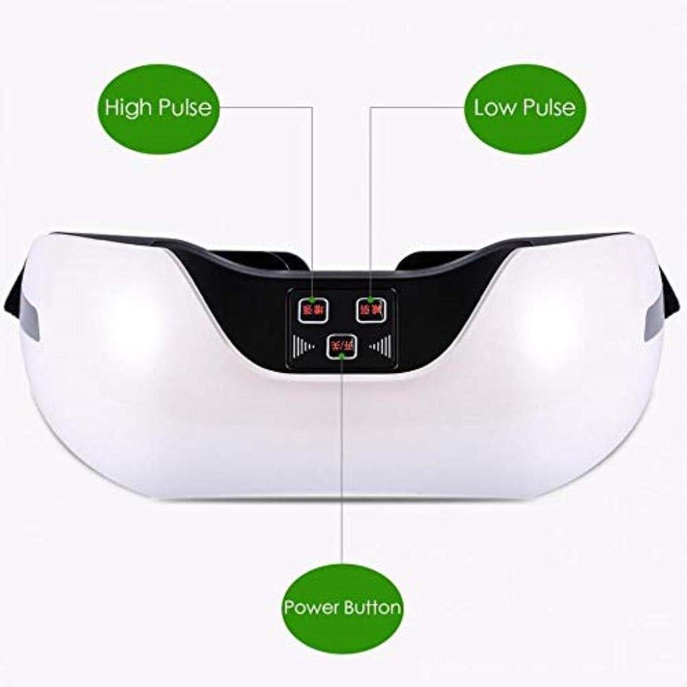 強風力眩惑する近視の予防のための視力回復器具トレーニングアイマッサージ器具 (Color : White)