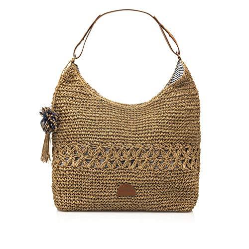 MTNG AMARRA, Shopper para Mujer, Beige (Teja Natural), 16x40x47 cm (W x H x L)
