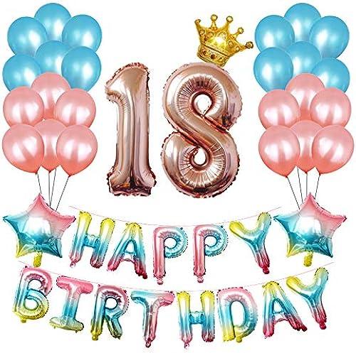 increíbles descuentos ZYJ Globos de Papel de cumpleaños, Globos de gradiente de de de cumpleaños Fiesta de Feliz cumpleaños Paquete de Globos para Celebrar la Fiesta de cumpleaños  descuentos y mas