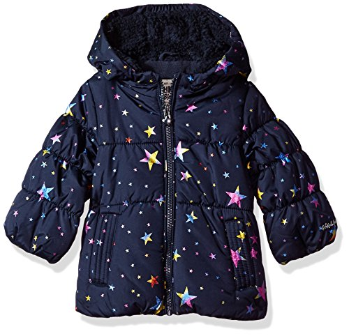 OshKosh B'Gosh Baby Girls Perfect Heavyweight Jacket Coat, Navy Dots, 24M