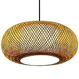 Candelabro de bambú, luz colgante, lámpara de techo china, bricolaje, pantalla...