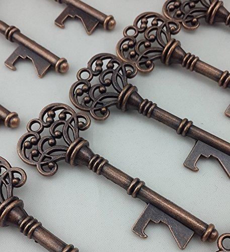40PCS Bottle Openers Copper Wedding Favors Rustic Decoration